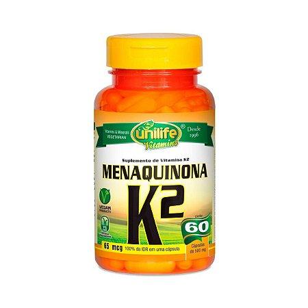 Vitamina K2 Unilife 60 cápsulas
