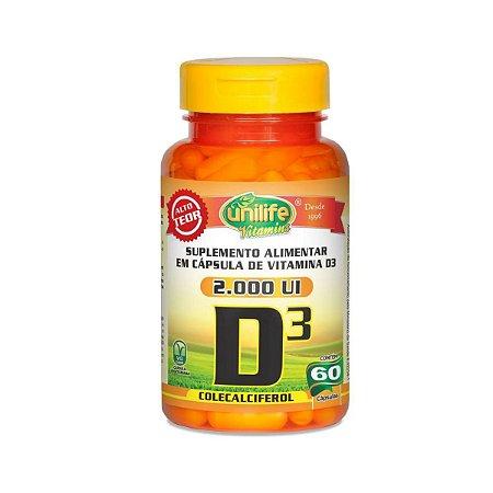 Vitamina D3 Unilife 60 cápsulas