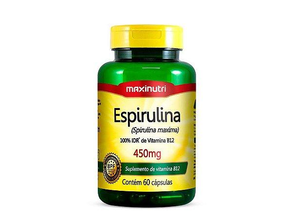 Espirulina 450mg 60 cápsulas - Maxinutri