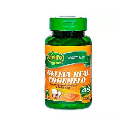 Geléia Real Cogumelo Unilife 45 cápsulas