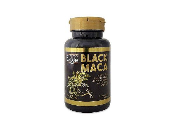 Black Maca Vegana 60 cápsulas Color Andina