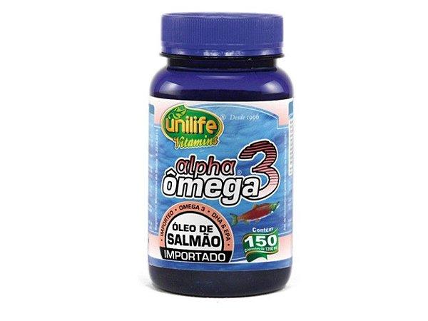 Ômega 3 Alpha Óleo de Salmão Unilife 150 cápsulas