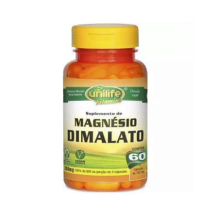 Magnésio Dimalato Unilife 60 cápsulas