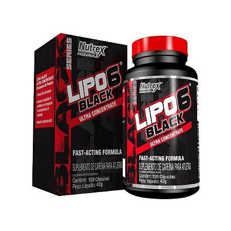 Lipo6 Black Nutrex 120 cápsulas