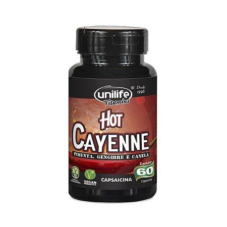 Pimenta Hot Cayenne Unilife 60 cápsulas