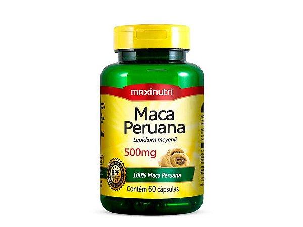 Maca Peruana 500mg 60 cápsulas - Maxinutri