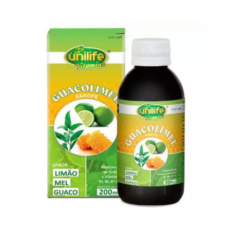 Guacolimel Xarope Limão, mel e guaco Unilife 200ml