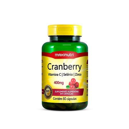 Cranberry Vitamina C e Zinco Maxinutri 60 cápsulas 400mg