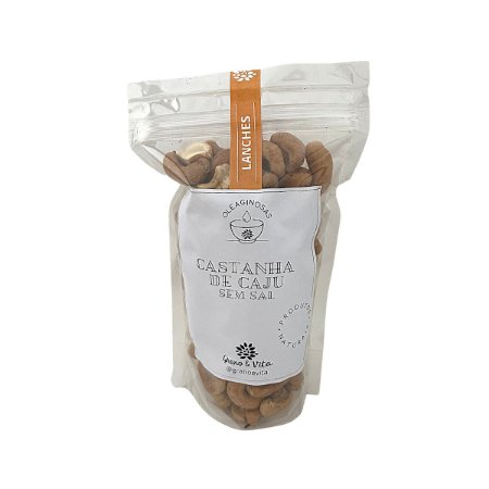 Castanha de caju sem sal - Grano & Vita (ziplock) 250g