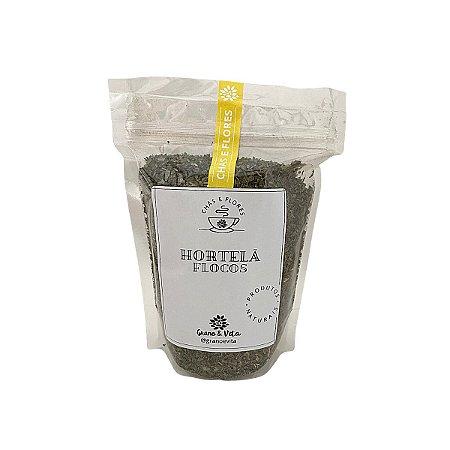 Hortelã Flocos - Chás e flores Grano & Vita (ziplock) 100g