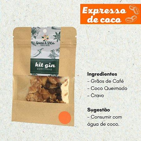 Kit Especiarias Gin Tônica Sabor Expresso de Coco Grano & Vita