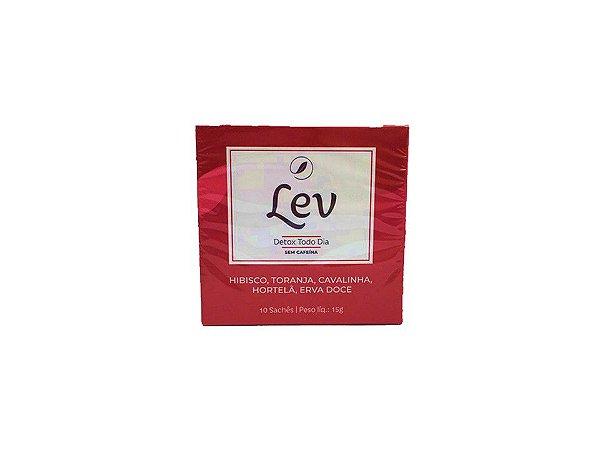 Chá LEV Detox sem cafeína 10 sachês