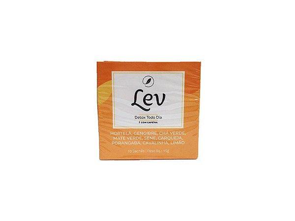 Chá LEV Detox com cafeína 10 sachês