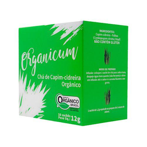 Chá de Capim-Cidreira Orgânico 10 sachês x 12g Organicum