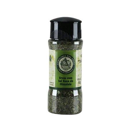 Ervas com Sal Rosa do Himalaia - Companhia das ervas 50g
