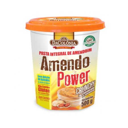 Pasta de Amendoim Integral Granulada DaColonia 500g