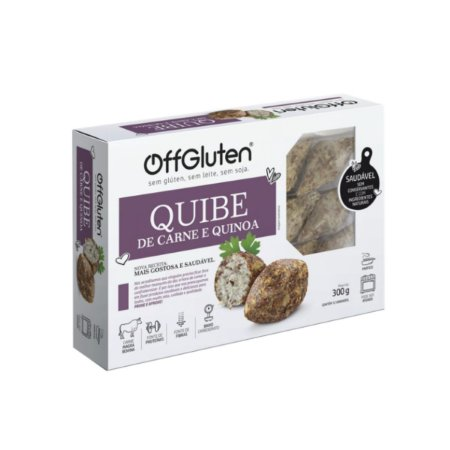 Quibe de carne e quinoa Sem glúten 300g Off Glúten