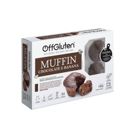 Muffin de chocolate Sem Glúten 150g Off Glúten