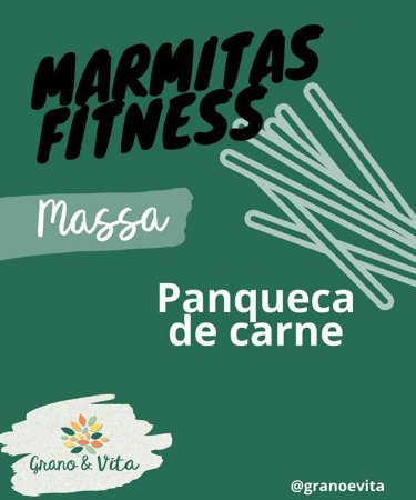 Panqueca de carne - Marmita Fitness Grano & Vita