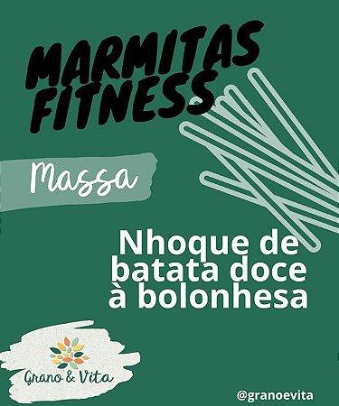 Nhoque de batata doce à bolonhesa - Marmita Fitness Grano & Vita
