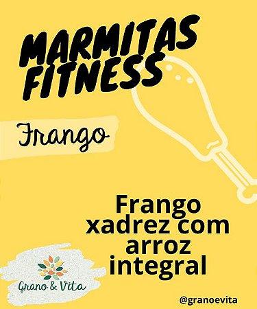 Frango xadrez com arroz integral - Marmita Fitness Grano & Vita
