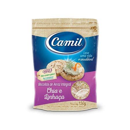Mini biscoito de arroz Chia e Linhaça Camil 150g