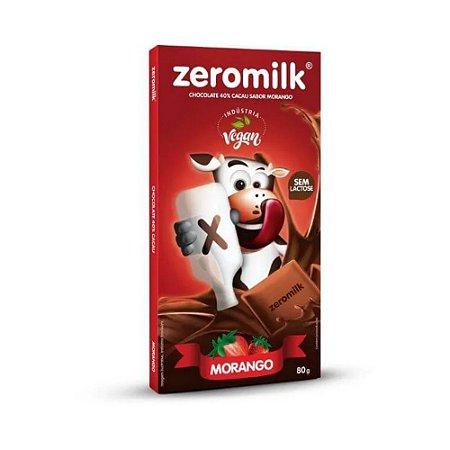 Chocolate zero leite morango Zeromilk 80g
