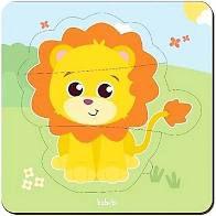 Quebra-cabeça Baby Leão (12 meses+)