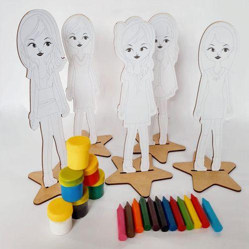 Teens Fashions: 9 bonecas para pintar e brincar (3 anos+)
