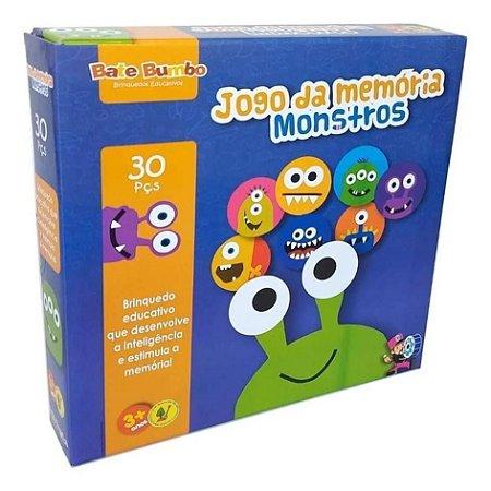 Jogo da Memória Monstros (3 anos+)