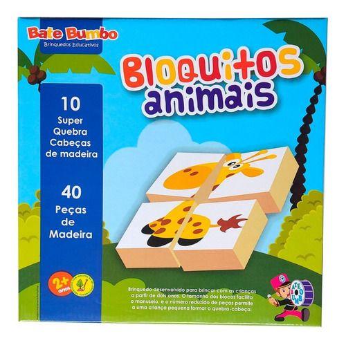 Quebra- Cabeça: Bloquitos Animais (2 anos+)