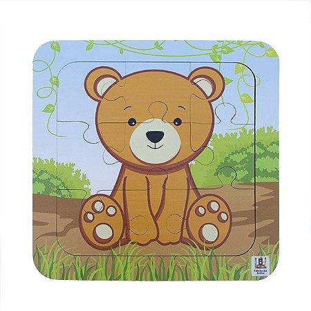 Quebra-Cabeça 9 peças : Urso (21 meses)