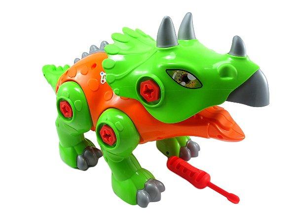 Brinquedo Dinossauro Triceratops Monta e Desmonta