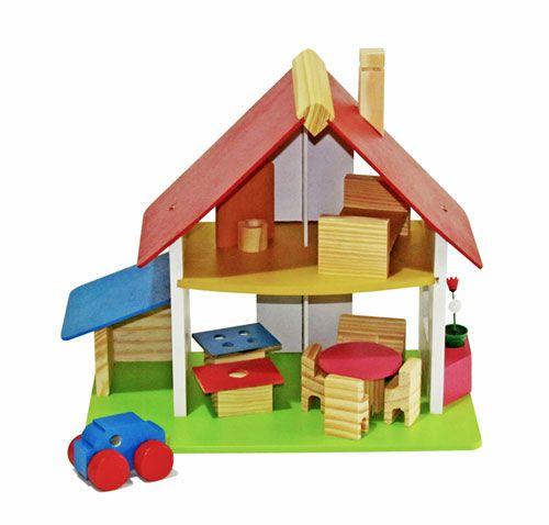 Casa de Boneca Chalezinho com Garagem  (3 anos+)