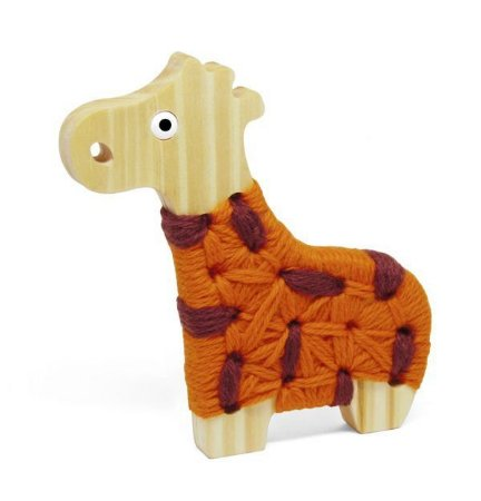 Alinhavo Madeira Girafa Filó (3 anos+)