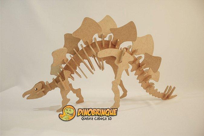 Estegossauro Quebra cabeça 3D 44 Peças