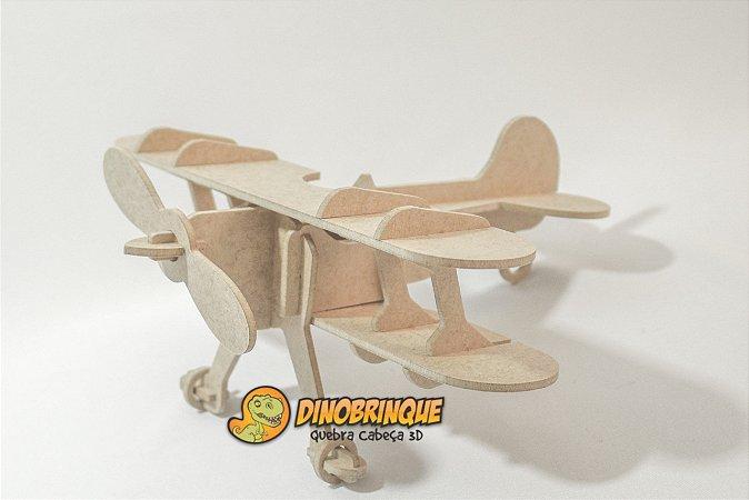 Biplano Quebra cabeça 3D - 18 Peças (6 anos+)