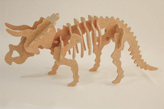 Triceratops Quebra cabeça 3D -  17 Peças