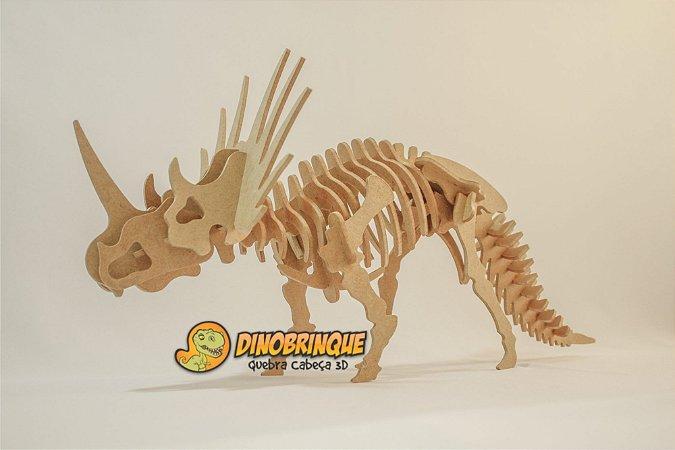 Quebra-cabeça 3D Estiracossauro (6 anos+)