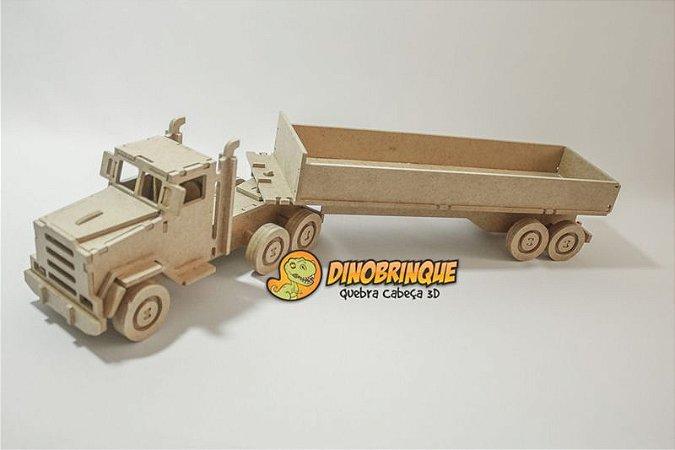 Caminhão Carroceria Quebra cabeça 3D - 87 Peças