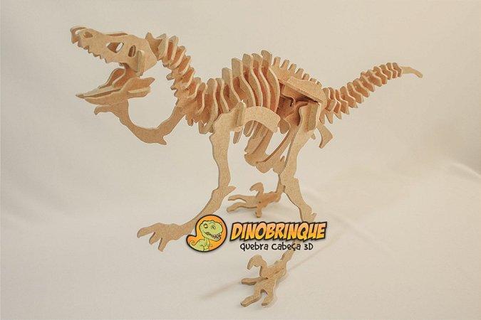 Velociraptor Gigante Quebra cabeça 3D - 47 Peças