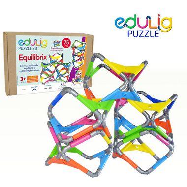 Quebra-cabeça Puzzle 3D Equilibrix  75 peças e conexões 6 cores
