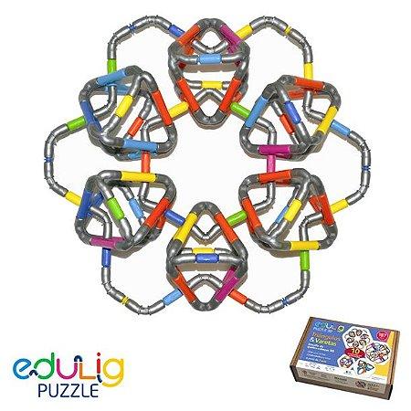 Quebra-cabeça  3D Triângulos e Varetas - 183 peças (7 anos+)