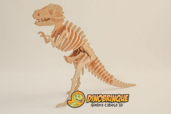 Tiranossauro Rex Gigante 28 peças - Quebra Cabeça 3D