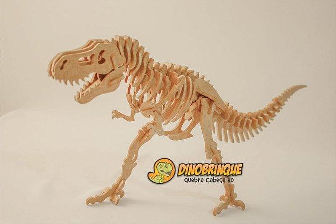 Quebra-cabeça 3D Tiranossauro Rex Gigantesco 55 Peças (6 anos+)