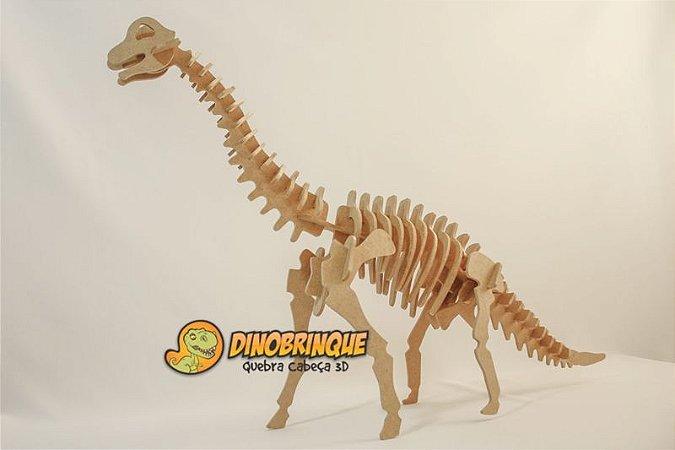 Dinossauro GIgantesco Braquiossauro 51 Peças Quebra Cabeça 3D