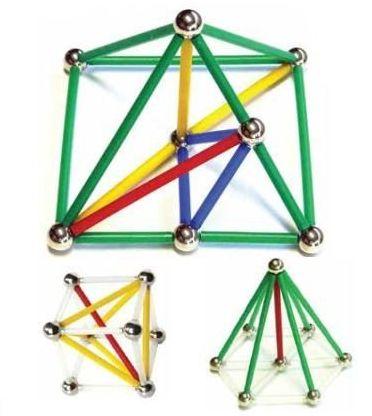 Magstix - Kit geometria 81 peças