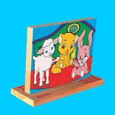 Puzzle vertical - animais (3 anos+)