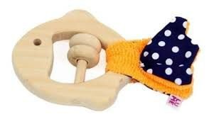 Mordedor Peixe -  Cauda Laranja e Azul Marinho  (4 meses+)