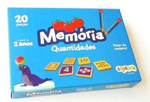 Jogo da memória - quantidades (3 anos+)